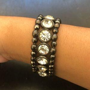 ♦️Hematite Rhinestone Bracelet
